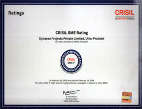 Dynacon Projects Pvt. Ltd. has been rated as HIGH level of creditworthiness adjudged in relation to other SME's.